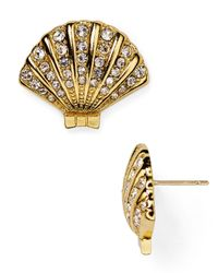 kate spade new york | Metallic Shore Thing Clam Stud Earrings | Lyst