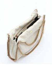 Stella McCartney - Natural Sand Canvas 'Falabella' Convertible Tote - Lyst