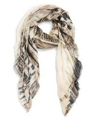 Lily and Lionel - Brown 'London' Modal & Cashmere Scarf - Lyst