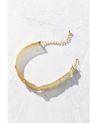 Urban Outfitters | Metallic Mesh Choker Necklace | Lyst