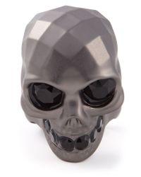 Alexander McQueen | Metallic Skull Ring for Men | Lyst