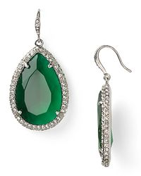 ABS By Allen Schwartz | Green Stone Drop Earrings | Lyst