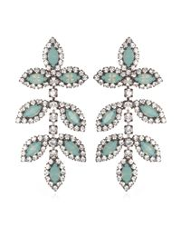Elizabeth Cole | Blue Leaf Earrings, Pacific Opal | Lyst