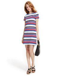 Tommy Hilfiger | Multicolor Lighthouse Multi-Stripe Sheath Dress | Lyst