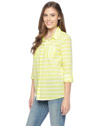 Splendid | Yellow Capri Rugby Shirt | Lyst
