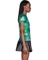 Versus - Green Leaf Print T_shirt - Lyst