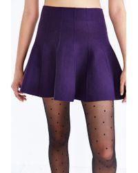 Kimchi Blue | Purple Flared Sweater Skirt | Lyst