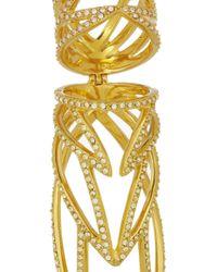 Eddie Borgo - Metallic Winged Hinge Goldplated Cubic Zirconia Ring - Lyst