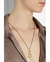 Iam By Ileana Makri | Metallic Stiletto Snake Gold-plated Tsavorite Necklace | Lyst