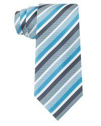 Kenneth Cole - Blue Silk Franklin Stripe Tie for Men - Lyst
