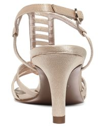 Adrianna Papell | Natural Ainsley Evening Sandals | Lyst