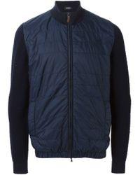 BOSS - Blue 'enzio' Bomber Jacket for Men - Lyst