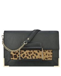 Nine West | Black Eugeine Leather Clutch | Lyst