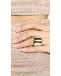 Maiyet - Gray Butterfly Ring With Horn Inlay - Dark Grey - Lyst