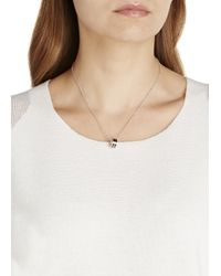 Marc By Marc Jacobs | Metallic Delicate Sweetie Black Enamel Necklace | Lyst