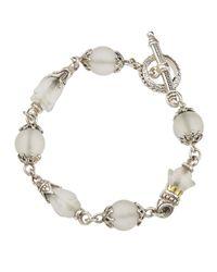 Konstantino - Metallic Carved Quartz Crystal Toggle Bracelet - Lyst