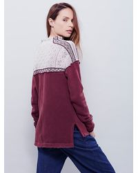 Free People - Purple Snow Bunny Pullover - Lyst
