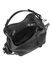 Kenneth Cole | Black Fringe Leather Bucket Bag | Lyst