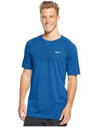 Nike - Blue Dri-Fit Crew-Neck Performance T-Shirt for Men - Lyst