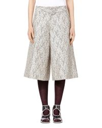 Marni | Pants In Double Cotton And Silk Gray Garden Print | Lyst