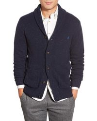 Original Penguin | Blue Shawl Collar Cardigan for Men | Lyst