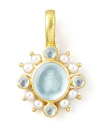 Elizabeth Locke | Metallic Demel Bee Glass Intaglio 19K Gold Pendant | Lyst