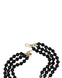 Chan Luu - Black Onyx And 18k Yellow Gold-finished Sterling Silver Bead Necklace - Lyst