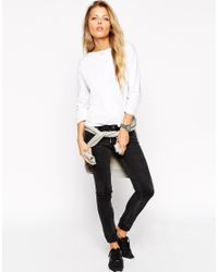 ASOS - Black The Pocket T-shirt With Long Sleeves - Lyst