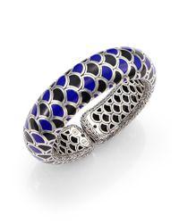 John Hardy | Multicolor Naga Enamel & Sterling Silver Wide Flex Cuff Bracelet/Blue | Lyst