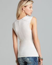 Free People - White Tank Roll with It - Lyst
