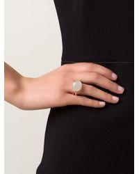 Marie-hélène De Taillac | Metallic Grey Moonstone Ring | Lyst