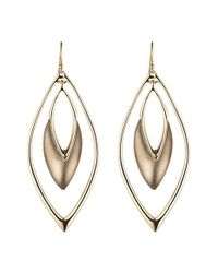 Alexis Bittar | Gray 'lucite' Oscillating Marquise Drop Earrings - Warm Grey | Lyst