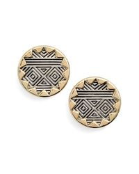 House of Harlow 1960 - Black 1960 'sunburst' Button Earrings - Lyst