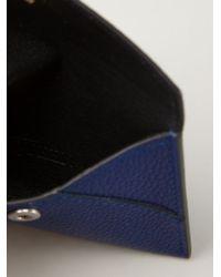 Alexander McQueen - Blue Skull Flap Cardholder - Lyst