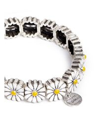 Philippe Audibert | Metallic 'margueritte' Enamel Daisy Elastic Bracelet | Lyst