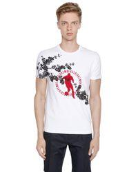 Bikkembergs | White Cherry Blossom Cotton Jersey T-shirt for Men | Lyst