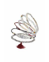 TOPSHOP | Metallic Facet Bracelet Pack | Lyst