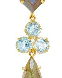 Bounkit | Convertible Labradorite And Blue Quartz Earrings | Lyst