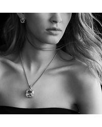 David Yurman - Black Labyrinth Medium Pendant With Diamonds - Lyst