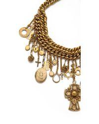 Erickson Beamon - Metallic Chain Charm Necklace - Gold - Lyst