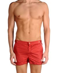Robinson Les Bains - Red Swimming Trunk for Men - Lyst
