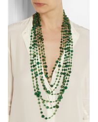 Rosantica - Green Pegaso Golddipped Agate Necklace - Lyst