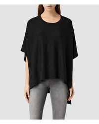 AllSaints | Black Arple Cape | Lyst