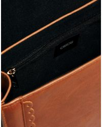 ASOS - Brown Small Satchel Bag with Scalloped Edge - Lyst