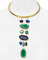 "Ralph Lauren - Green Lauren Statement Necklace, 17"" - Lyst"