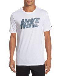 Nike - White 'block Knurling' Dri-fit Graphic T-shirt for Men - Lyst
