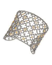 Alexis Bittar | Metallic Crystal Studded Spur Cuff | Lyst