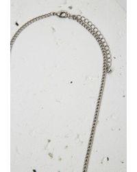 Forever 21 | Metallic Rhinestone Etched Fringe Pendant Necklace | Lyst