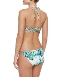 Pilyq - Multicolor Printed Braided Halter Swim Top - Lyst