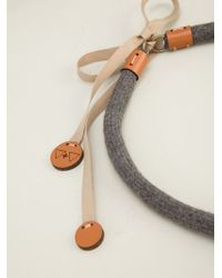 Vice & Vanity - Gray 'inka' Necklace - Lyst